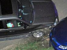 A chase involving Wake County sheriff's deputies and a suspect going the wrong way on Interstate 540 ended late Wednesday, April 8, 2009, with a head-on collision near the Gresham Lake Bridge, authorities said. (Photos courtesy of Scott Carter)