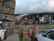 A warehouse in Faison burned through the night.