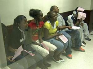 The students, charged with vandalism and breaking and entering, appeared before the Wake County magistrate Thursday, May 28, 2009.