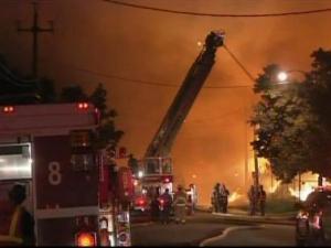 This blaze began around 1:45 a.m. Friday at 1316 S. Blount St.