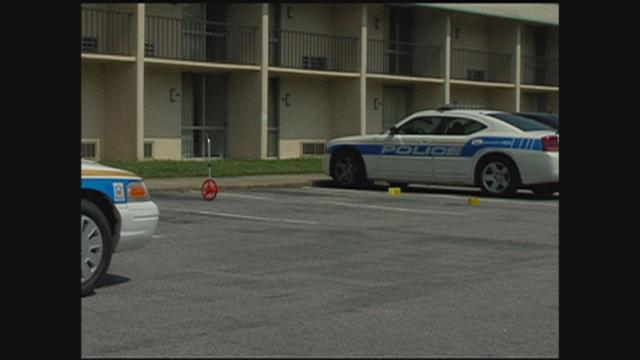 Police surrounded America's Best Value Inn in Henderson after a shooting Sunday.