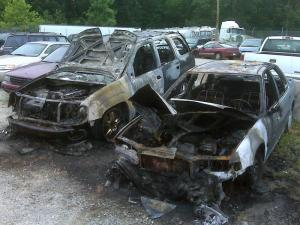 A July 10, 2009, fire at John's Towing and Recovery in Durham damaged eight vehicles.