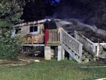 Fire destroys Vance mobile home