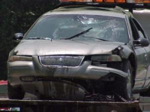 A vehicle was found submerged in Bunn Lake, off Hagwood Road near Zebulon, Sunday, July 12, 2009.