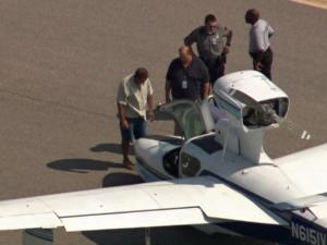 A small plane made an emergency landing Monday at Raleigh-Durham International Airport when its nose gear collapsed after the plane touched down.