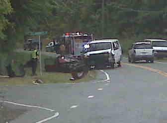 A viewer sent in this photo from the wreck scene in Chapel Hill Tuesday.