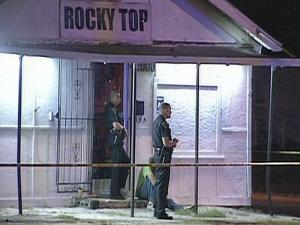 Fayetteville police were outside the Rocky Top bar Sunday after a fatal shooting.