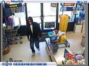 This robbery suspect was caught on surveillance cameras at the Family Dollar in Dortches.
