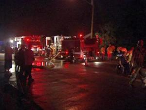 Investigators said arson was to blame for a townhouse fire at 3515 Lake Woodard Drive early Thursday.