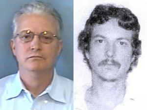 Authorities say Bobby Rea Irwin, shown at right after his 1988 arrest, changed his name to Robert LaRoche while on the run from the law and moved to Raleigh. At left is his N.C. driver's license photo from 2008.
