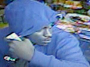 Authorities released this video surveillance image taken during a robbery Saturday at the Northside Grocery on U.S. Highway 15 in Creedmoor.