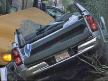 Off-duty firefighter injured in school-bus wreck