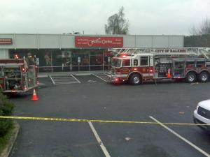 A fire broke out at the Guitar Center, 3100 Capital Blvd. in Raleigh, on the morning of Friday, Dec. 18, 2009.