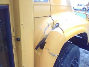 An Edgecombe County school bus tipped over Friday morning. No one was seriously injured.