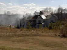 Firefighters battled a blaze at the Granville Oaks Apartment complex in Creedmoor.