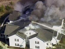 Sky 5: Creedmoor apartment fire
