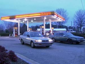 A worker at the Shell gas station at 6801 Glenwood Ave. in Raleigh said a supplier put diesel fuel in the wrong tanks on Wednesday, March 10, 2010.
