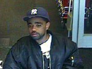 A man pictured in a Target security video is wanted by Apex police in the theft of three LCD televisions.