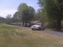 Durham city and county authorities were searching Currin Road after a reported carjacking.