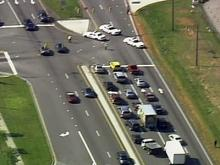 A wreck on U.S. 70/New Raleigh Highway caused considerable traffic backups Tuesday.