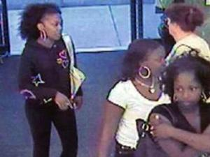 Fayetteville police are trying to identify three women for questioning in three robberies, including one in which a security guard was assaulted.