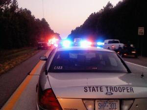The state Highway Patrol responds to a fatal crash on Interstate 95 in Nash County on Saturday, May 29, 2010.