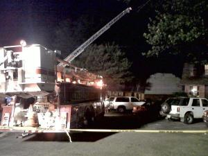 Firefighters respond to a fire at 2605 New Hope Church Road in Raleigh on Monday, June 14, 2010.