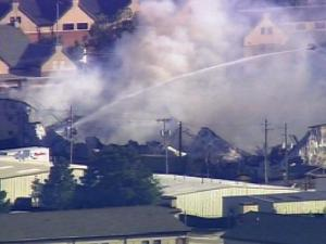 A warehouse used by the 82nd Airborne Division band caught fire on Fort Bragg Friday afternoon.