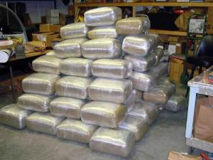 Local and federal authorities found 1,800 pounds of marijuana on a tractor-trailer parked in Hoke County on June 30, 2010.