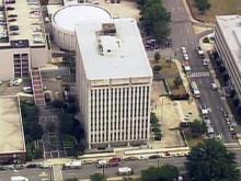 Sky 5 video of Albemarle Building evacuation