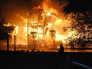 Lightning sparked a fire that destroyed a multimillion-dollar home in the River Dunes community of the small coastal town of Oriental.