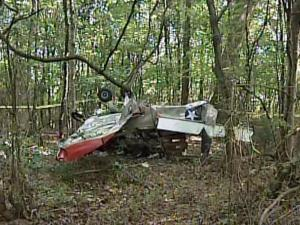 A single-engine airplane crashed on Saturday, July 24, 2010, in a wooded area just west of Kannapolis.