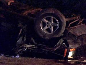 A look at the vehicle involved in a wreck on Spring Forest Road in Raleigh on July 30, 2010.