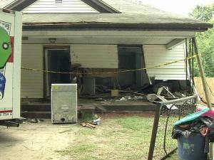 A vehicle ran off the road and into a house at 209 Guthrie Ave. in Durham around 2:30 a.m. Sunday, Aug. 8, 2010, police said.