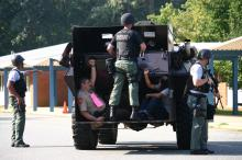 Orange County Schools staff, law enforcement and emergency responder held a mock drill for a shooting and lockdown at S.W. Stanford Middle School in Hillsborough on Saturday, Aug. 21, 2010. (Photo courtesy of Orange County Schools)