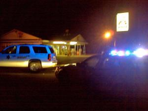 Authorities investigate a shooting Wednesday, Aug. 25, 2010, at the Shop 'N Go on the 1300 block N.C. Highway 39 near the Johnston-Wake County line.