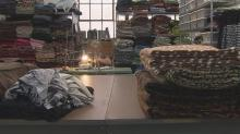 Artist Pattiy Torno makes fleece and other eclectic clothing in the Asheville River Arts District.