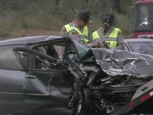 Troopers said a man was killed Saturday, Sept. 11, 2010, in a two-vehicle crash on N.C. Highway 210 near Mockingbird Lane, north of Spring Lake.