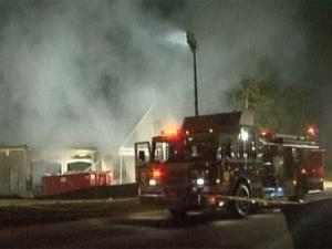 Firefighters fight a blaze at a home in Clayton's Glen Laurel subdivision around 3:30 a.m. Monday, Sept. 13.