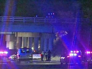Fayetteville police said that two people died in a two-vehicle wreck on the All American Freeway, near Skibo Road, early Saturday, Sept. 18, 2010.