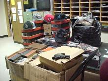 The Halifax County Sheriff's Office seized about $20,000 worth of counterfeit goods in a traffic stop on Saturday, Sept. 24, 2010.