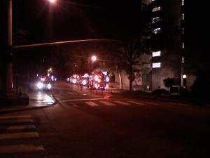 Emergency crews responded to a fire inside Kenan Labs at the University of North Carolina at Chapel Hill late Sunday, Oct. 3, 2010.