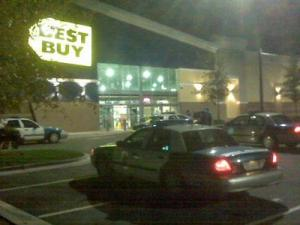 Police responded to a robbery call at the Best Buy at Brier Creek in Raleigh on Nov. 8, 2010.