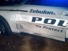 Two Zebulon police cars were damaged during a high-speed chase on Dec. 1, 2010.