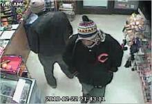 Orange County authorities are trying to identify two men caught on surveillance camera footage when the Pop Shoppe Citgo convenience store, 6300 U.S. Highway 70 West in Mebane, was robbed around 9:45 p.m. on Dec. 22, 2010.