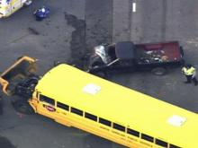 One person was killed in a wreck involving a school bus in front of High Falls Elementary School on Thursday afternoon, the state Highway patrol said.