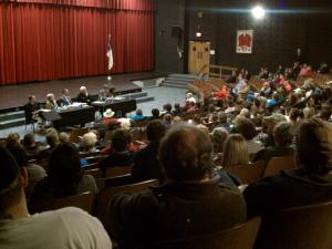 Hundred of parents attended a meeting Tuesday night about a Chatham County Schools plan that would break up schools that had a K-8 grade configuration. It's a tough sell for some parents, whose families have attended the same school for generations.