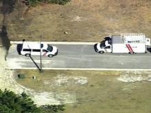 Sky 5 flies over Rocky Mount homicide investigation
