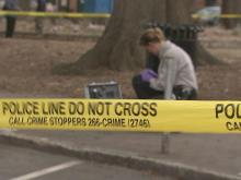 A 53-year-old homeless man was stabbed while waiting in line for a weekly food give-away in Moore Square in downtown Raleigh on Sunday, March 6, 2011.