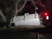 Angier man dies in crash; wife calls 911